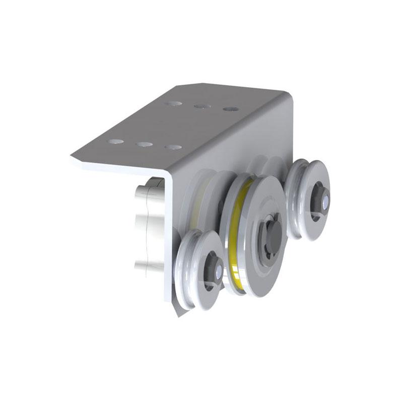 Amortisseur radial LD 100L S-65 avec roues de guidage